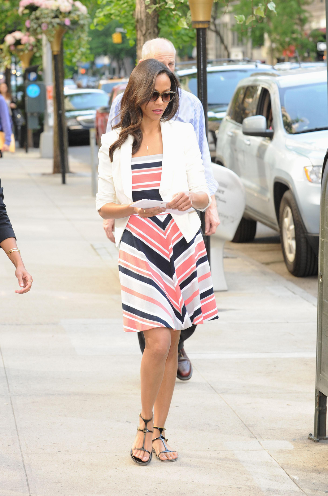 zoe-saldana-new-york-city-banana-republic-milly-collection-coral-multi-stripe-fit-and-flare-dress-2.jpg