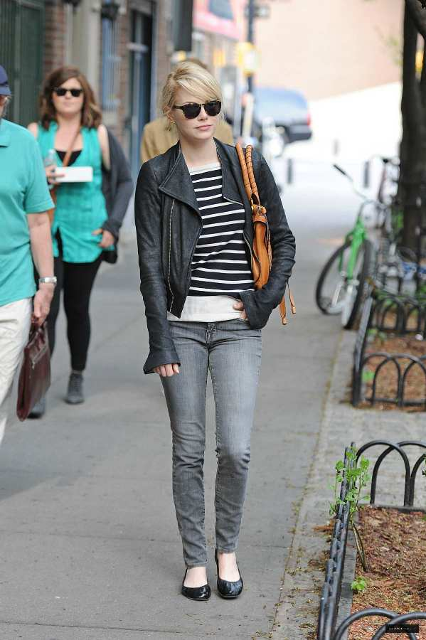 Emma Stone chic street style outfit inspiration candid fashion new york may 3 2011 2.jpg