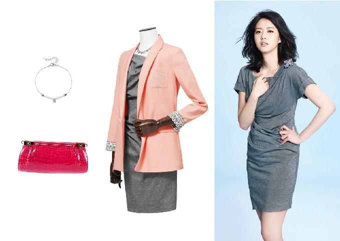 ▲사진:재킷, 원피스-베스띠벨리/ 팔찌-티르리르/ 가방-콴펜