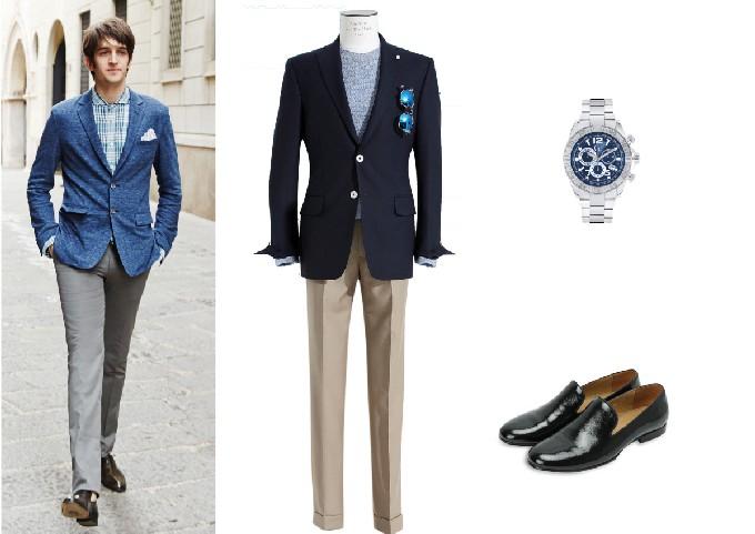 ▲사진:재킷, 티셔츠, 팬츠, 신발-반하트 디 알바자/ 시계-Gc워치