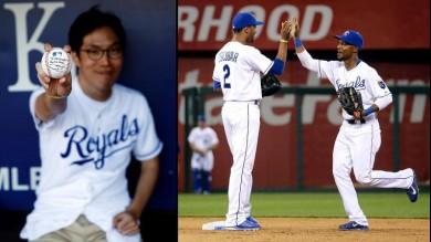 ▲캔자스시티 열혈팬 이상우씨 (2014 월드시리즈)/출처:BaseballGEN