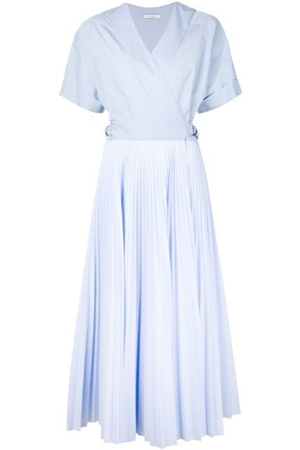 ▲Tome (Pleated Poplin and Cotton Wrap Dress)