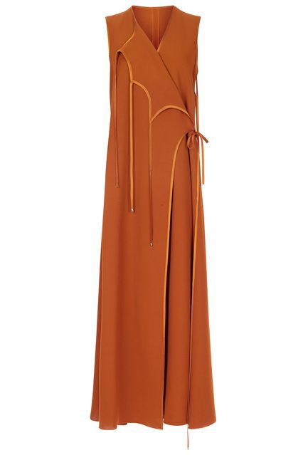 ▲Rosetta Getty Terracotta (Tie-front Wrap Dress)