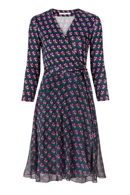▲Diane von Furstenberg (Irina Silk and Chiffon Combo Wrap Dress)