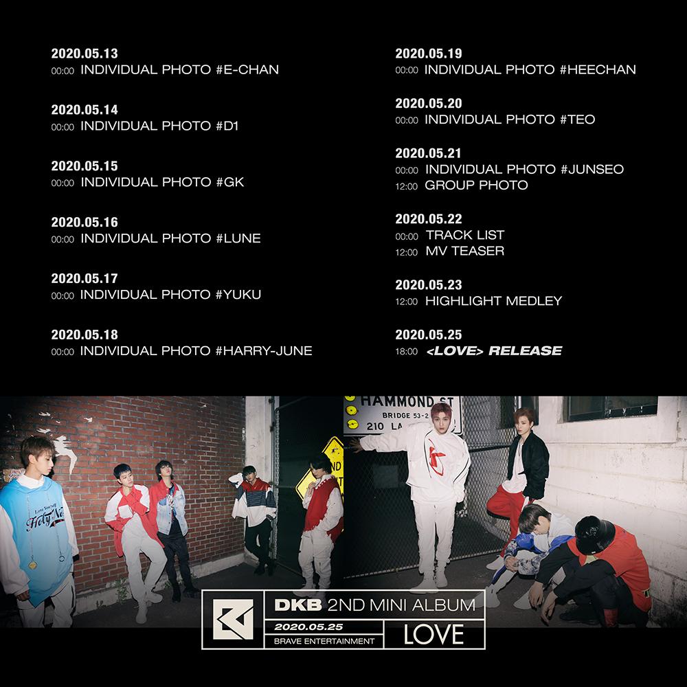 다크비(DKB), 미니앨범 _LOVE_ 스케줄러 공개…컴백 카운트다운.jpg